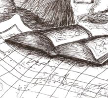 Cartographer dreaming Sticker