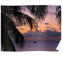 Catamaran in the Caribbean. Poster