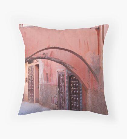 a medina in pink Throw Pillow