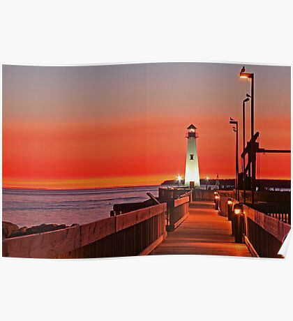 Sunrise In St. Ignace Poster