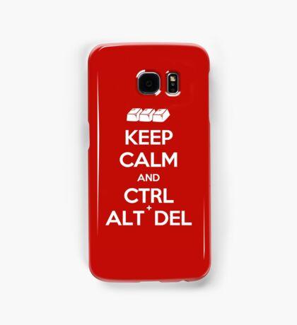 Keep Calm - Ctrl + Alt + Del Samsung Galaxy Case/Skin