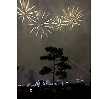 Foggy Fireworks Photographic Print