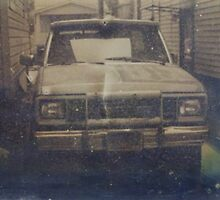 Old Truck Tintype Photograph Dry Plate by ShellyKay