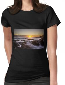 Flowing Fire... Womens Fitted T-Shirt