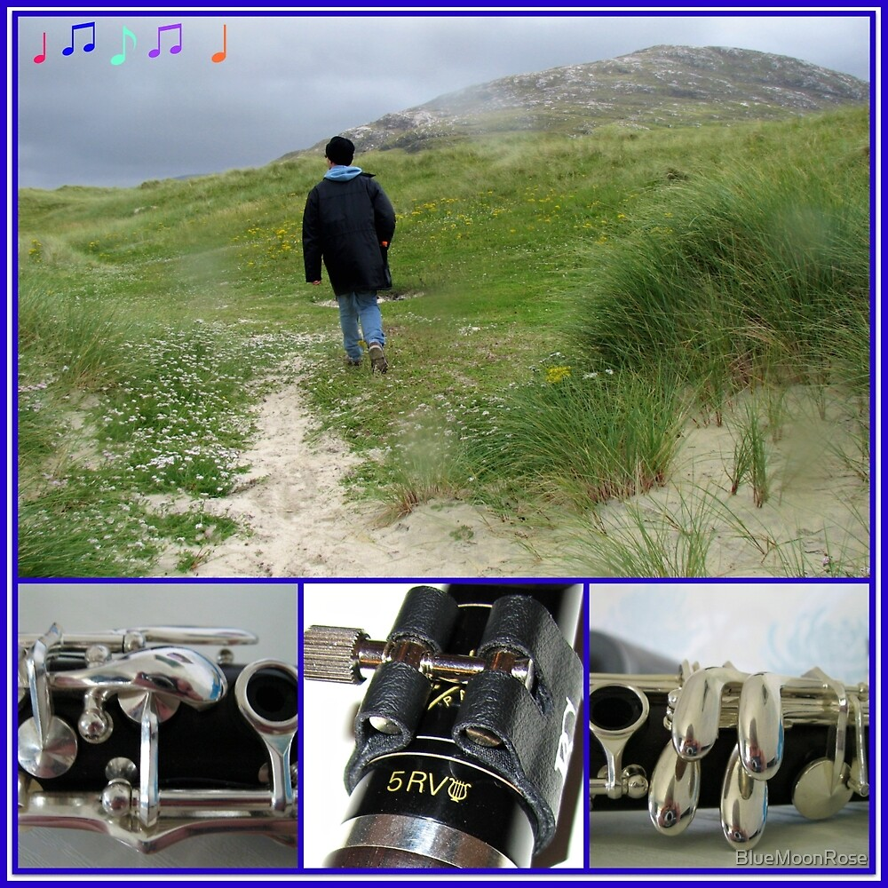 Stranger on the Shore - Clarinet Collage by BlueMoonRose