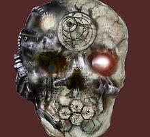 cyborg skull by Nephilumboy
