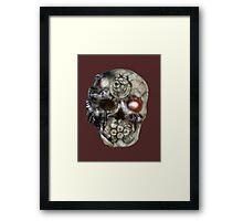 cyborg skull Framed Print