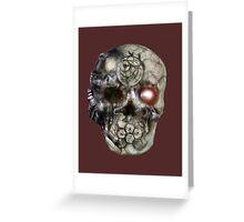 cyborg skull Greeting Card