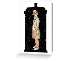 Fifth Doctor and The TARDIS Greeting Card