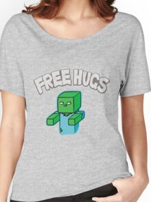 "Minecraft Zombie | ""Free Hugs"" Women's Relaxed Fit T-Shirt"