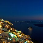 Santorini At Night by myphototype