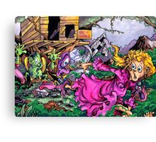 Yet Another Kid Running From Monsters Canvas Print