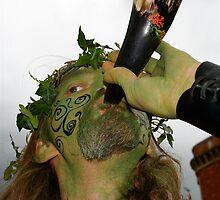 Spirit of the Green Man, Glastonbury Beltane 08 by Amanda Gazidis