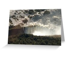 Victoria Falls from the Air 2 Greeting Card
