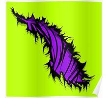 Tiger Stripe Rip Tear Purple  Poster