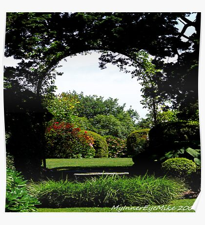 #506    Formal Garden Through An Arch Poster