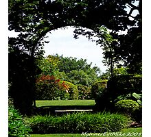 #506    Formal Garden Through An Arch Photographic Print
