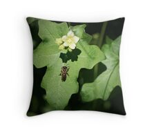 The Bee & The Flower Throw Pillow