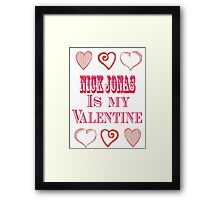 nj valentine Framed Print