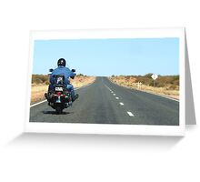 Lone Rider Outback Alice Springs 'MAGIC' number plates Greeting Card