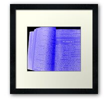 The Blueprints of Life Framed Print