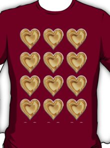 Liquid golden  love hearts with a silver lining T-Shirt