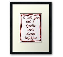 Valentine's Day #5 - Hobbit Love Framed Print