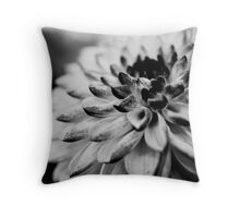 Dahlia in Black & White Throw Pillow