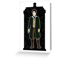Eighth Doctor and The TARDIS Greeting Card