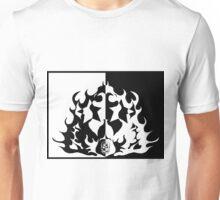 Skull Stars Fire Unisex T-Shirt