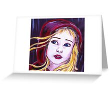 Little Red Riding Hood Fairy Tale Art Painting  Greeting Card