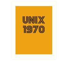 Unix 1970 Art Print