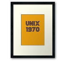 Unix 1970 Framed Print