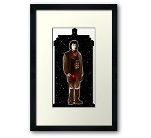 The War Doctor and The TARDIS Framed Print