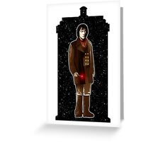 The War Doctor and The TARDIS Greeting Card