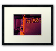 Geeks Shall Rule the World Framed Print