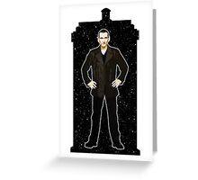 Ninth Doctor and The TARDIS Greeting Card