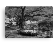 City Street in Black and White Canvas Print