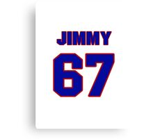 National football player Jimmy Dean jersey 67 Canvas Print