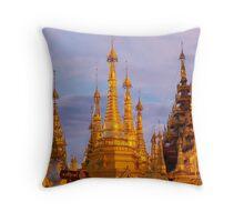 Shwedagon Pagoda Yangon Throw Pillow