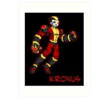super villains: kronus... Art Print