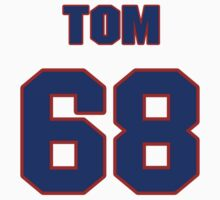 National football player Tom Compton jersey 68 by imsport