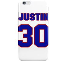 National football player Justin Tryon jersey 30 iPhone Case/Skin