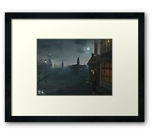 The District sleeps alone tonight Framed Print