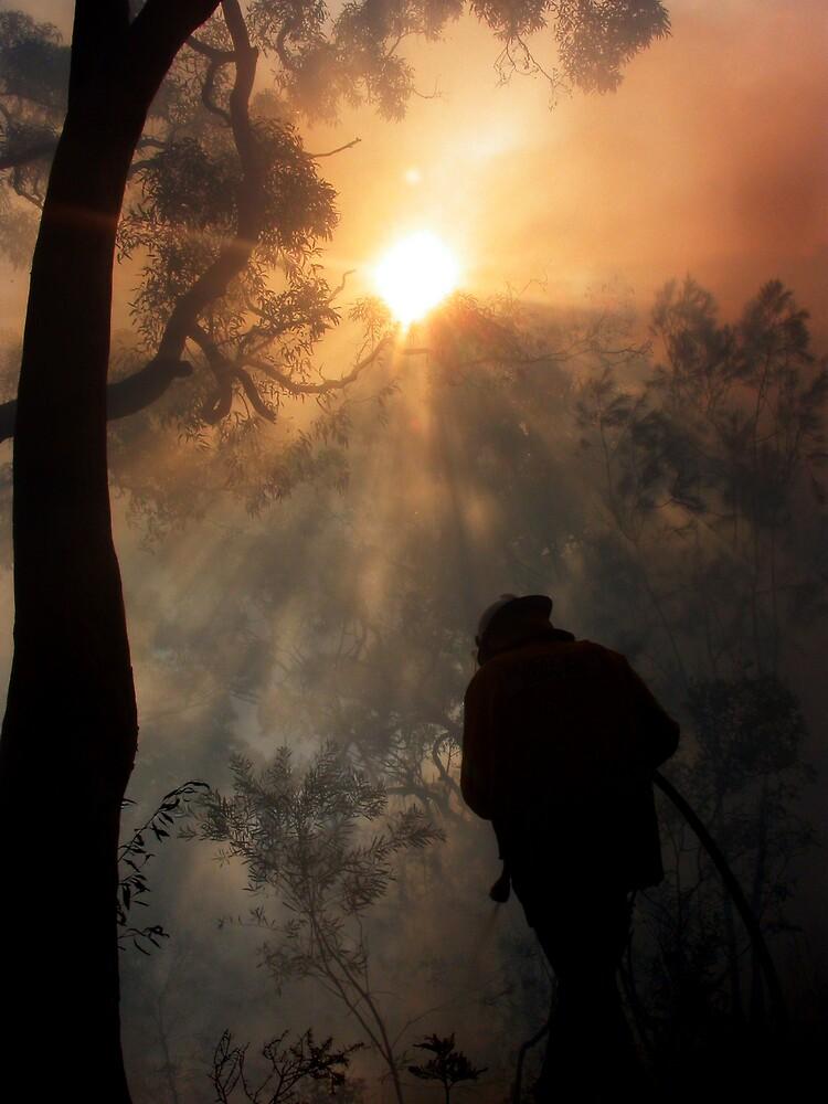 Sun and smoke by Dean Symons