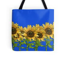 Sunflowers Blue Tote Bag