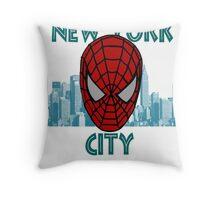 Spidey New York Throw Pillow