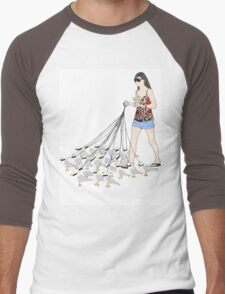 My pet seagulls Men's Baseball ¾ T-Shirt