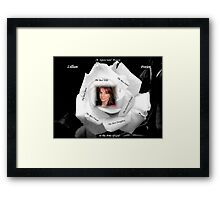 A Special Rose - In The Arms Of God Framed Print