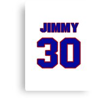 National football player Jimmy Raye jersey 30 Canvas Print